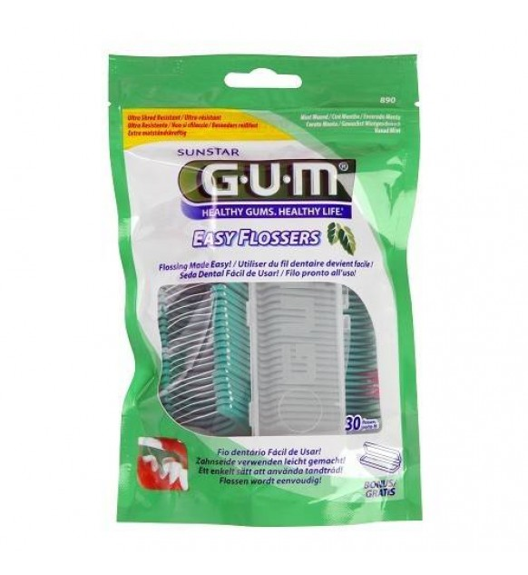 GUM EASY FLOSSERS FORCELLA 30 PEZZI