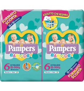 PAMPERS BABY DRYDUO DWCT XLX30