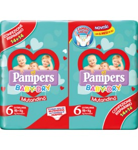 PAMPERS BABY DRY DUODWCT XL28P