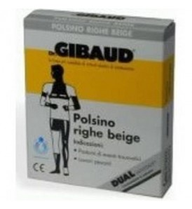 GIBAUD POLSINO A RIGHE BEIGE 8CM 1